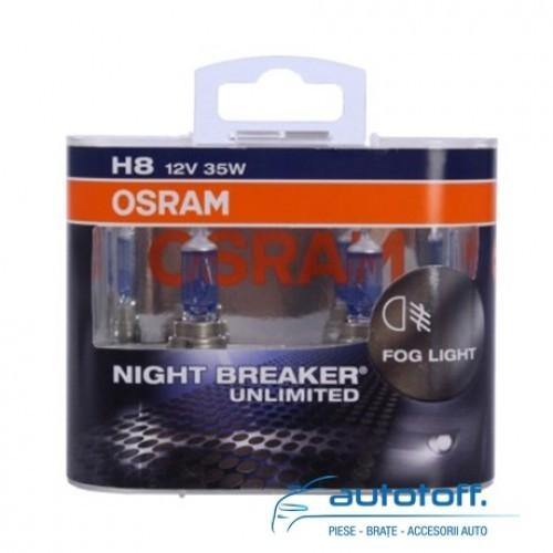Becuri H8 NIGHT BREAKER UNLIMITED Duo Box 64212NBU-HCB