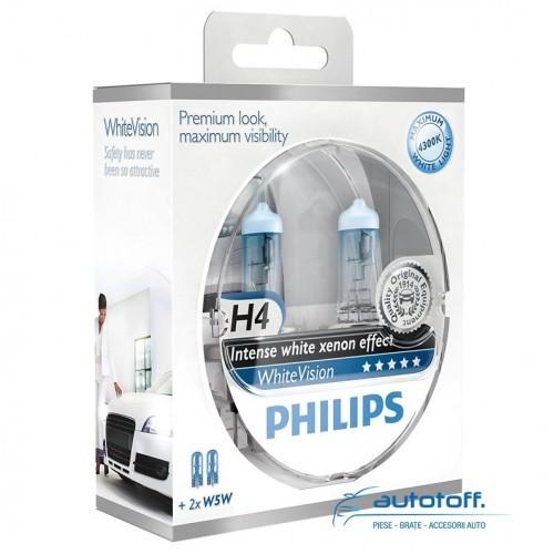 Becuri Philips White Vision H4 12342WHVSM XVS2